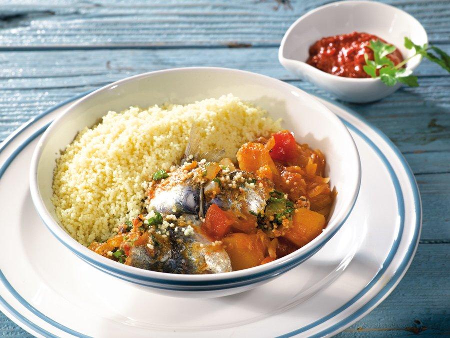 Recette de couscous aux filets de sardines à la soussienne - Graine moyenne Le Renard