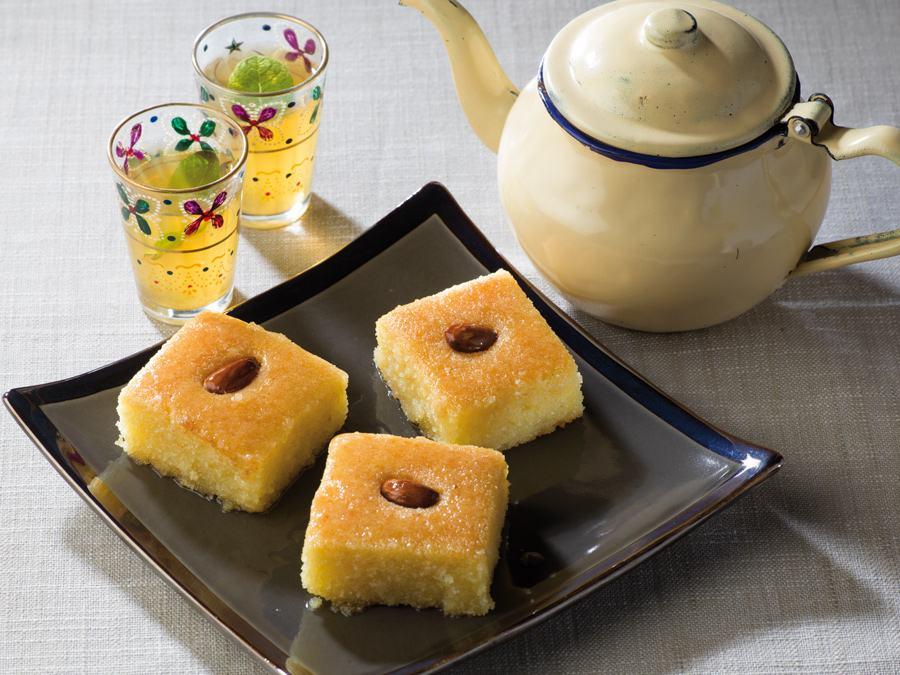 Recette Namoura, gâteau libanais au miel à la semoule fine Le Renard