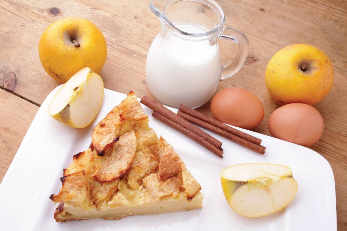 Recette de clafoutis aux pommes à la semoule fine Le Renard