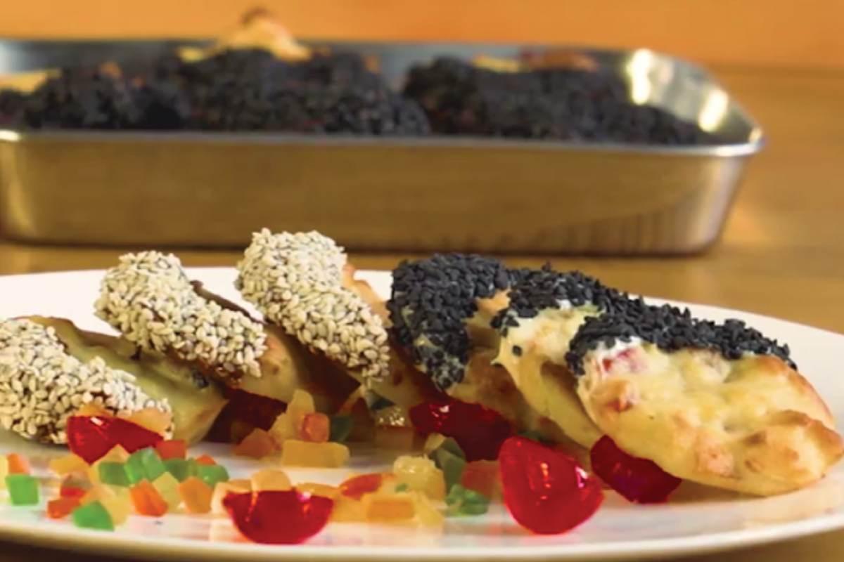 Recette de Biscuits Florentins de Semoule Fine aux Fruits Confits