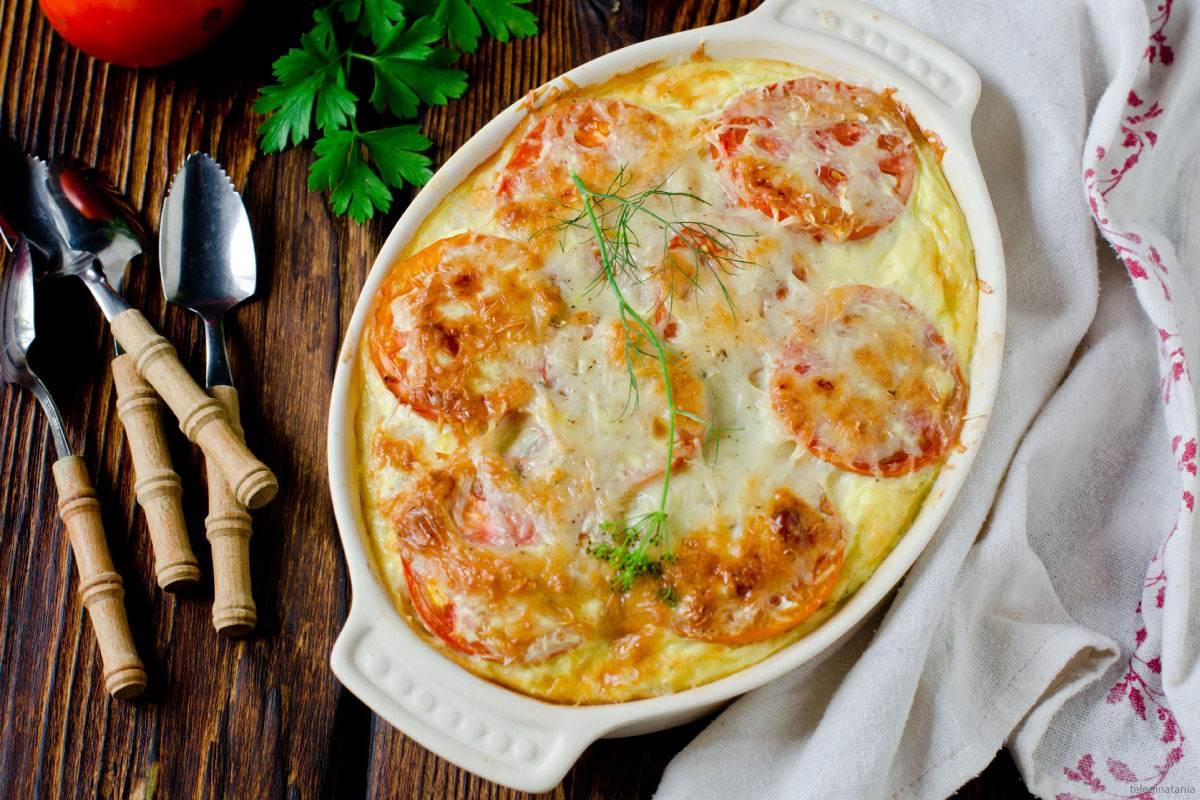 Recette de gratin de semoule fine Le Renard au thon et tomates