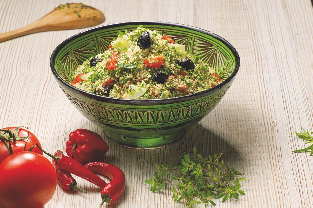 Recette Taboulé Méditerranéen à la graine de couscous moyen Le Renard