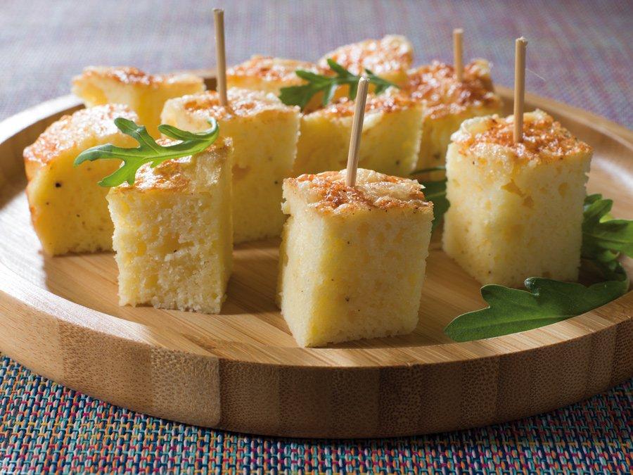 Recette gâteau de semoule au comté - Le Renard