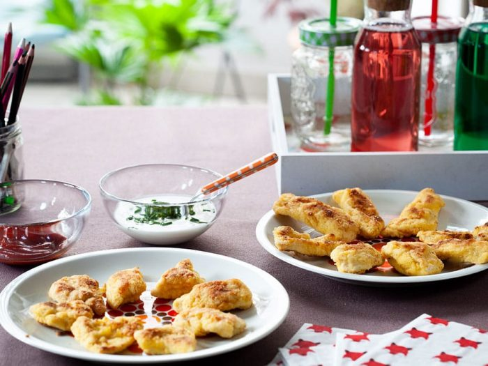 Recette de nuggets au poulet et à la semoule Le Renard
